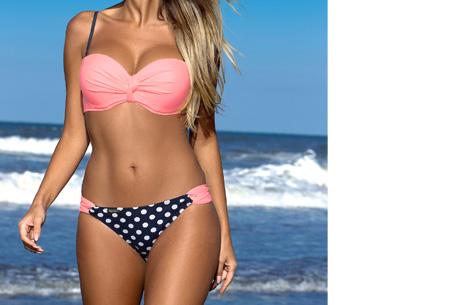Lovely beach bikini | Met deze bikini ben jij ready voor de zomer! Lichtroze dots