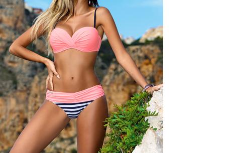 Lovely beach bikini | Met deze bikini ben jij ready voor de zomer! Lichtroze stripe