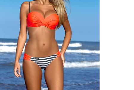 Lovely beach bikini | Met deze bikini ben jij ready voor de zomer! Oranje stripe