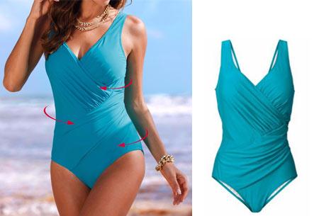 Twisted badpak met figuurcorrigerend effect | Laat jouw lichaam prachtig uitkomen deze zomer! blauw