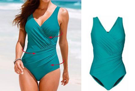 Twisted badpak met figuurcorrigerend effect | Laat jouw lichaam prachtig uitkomen deze zomer! groen