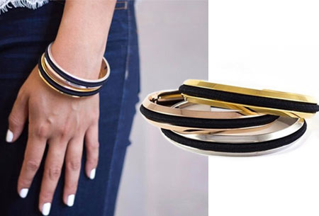 Haarelastiek armband
