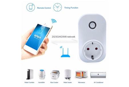 Smart WiFi stopcontact   Zet je lichten of apparaten aan en uit, ook als je niet thuis bent