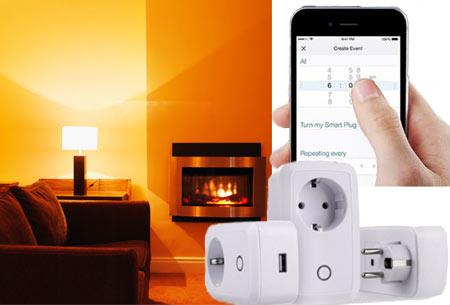 Smart WiFi stopcontact | Zet je lichten of apparaten aan en uit, ook als je niet thuis bent