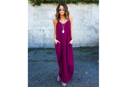 Oversized summer dress Maat XL - Aubergine