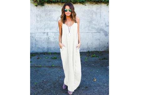 Oversized summer dress Maat XL - Wit