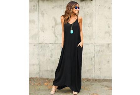 Oversized summer dress Maat M - Zwart