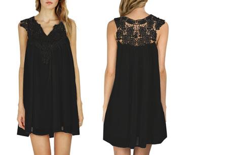 Lace jurk met prachtige kanten details | Ga voor een stijlvolle bohemian look! zwart