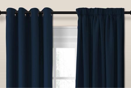 Larson luxe verduisterende gordijnen | Kant en Klaar, verkrijgbaar in verschillende maten en kleuren Dark blue