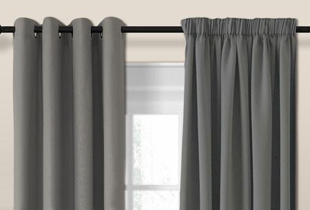 Larson luxe verduisterende gordijnen | Kant en Klaar, verkrijgbaar in verschillende maten en kleuren Grey