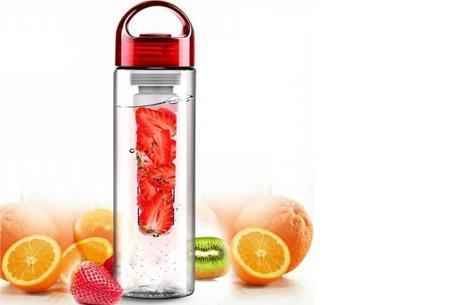 Friska waterfles met fruitfilter | Maakt water een stuk lekkerder!  Rood