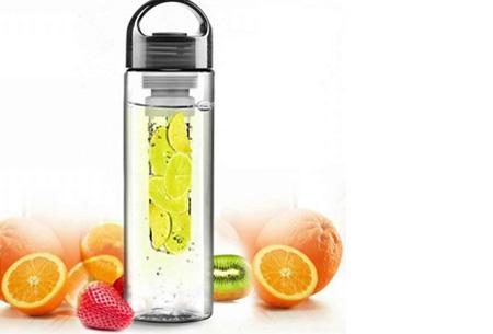Friska waterfles met fruitfilter | Maakt water een stuk lekkerder!  Zwart
