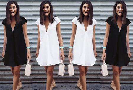 Classy v-neck jurk