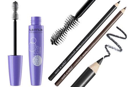 Uma Double Bubble mascara + Wet 'n Wild oogpotlood nu voor een bodemprijs
