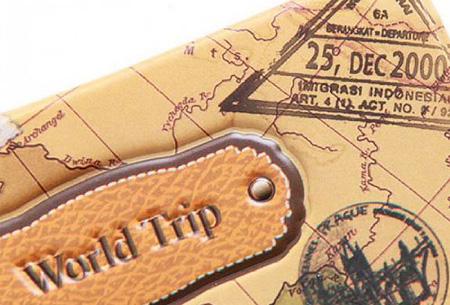 Paspoorthouder met wereldkaart opdruk | Bescherm je documenten tijdens het reizen!