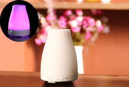 Aroma LED geurverspreider en luchtbevochtiger