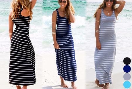 Stripe maxi jurk