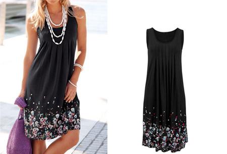 Floral zomerjurk | Vrouwelijk & comfortabel jurkje voor een stijlvolle zomerlook! zwart