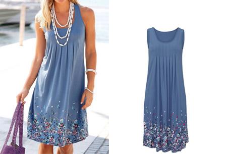 Floral zomerjurk | Vrouwelijk & comfortabel jurkje voor een stijlvolle zomerlook! blauw
