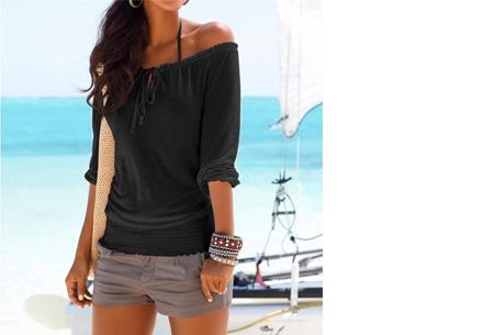 Off shoulder top   Hip, stijlvol en comfortabel in één! zwart