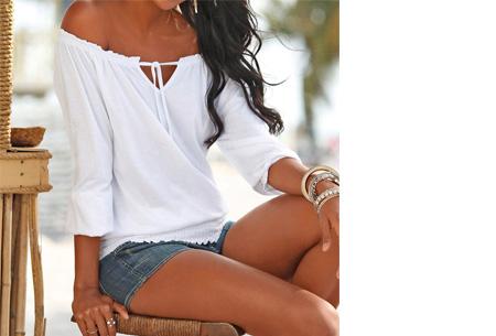 Off shoulder top   Hip, stijlvol en comfortabel in één! wit
