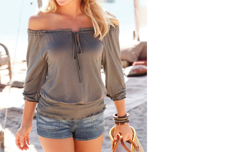 Off shoulder top   Hip, stijlvol en comfortabel in één! grijs