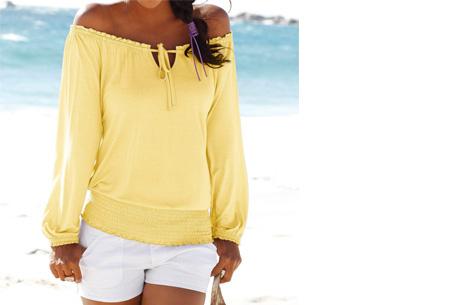 Off shoulder top   Hip, stijlvol en comfortabel in één! geel