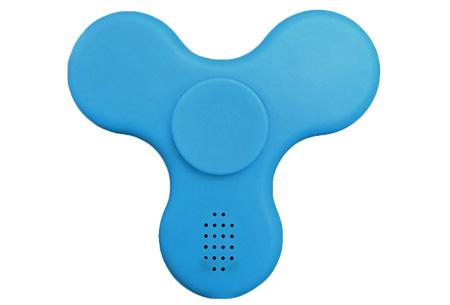 Bluetooth LED Fidget spinner | Speel je eigen muziek af tijdens het spinnen Blauw