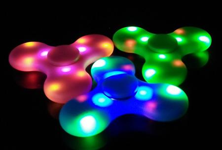 Bluetooth LED Fidget spinner | Speel je eigen muziek af tijdens het spinnen