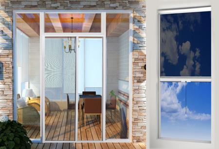 Schuif- en rolhorgordijnen voor ramen en deur