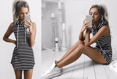 Joggingjurk met stoere hoodie | Comfortabel en stijlvol in één Stripe