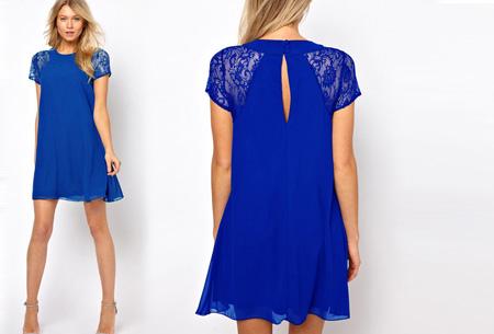 Summer Chic jurk | Prachtige & stijlvolle jurk Blauw