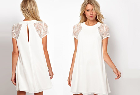 Summer Chic jurk | Prachtige & stijlvolle jurk Wit