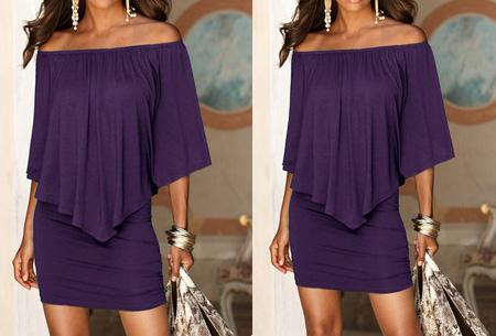 Off shoulder jurk | Voor een chique look met een sexy twist Paars
