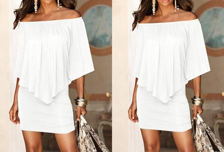 Off shoulder jurk | Voor een chique look met een sexy twist Wit