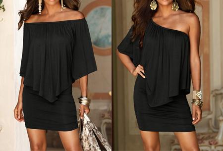 Off shoulder jurk | Voor een chique look met een sexy twist Zwart