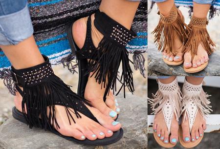 Ibiza fringe slippers