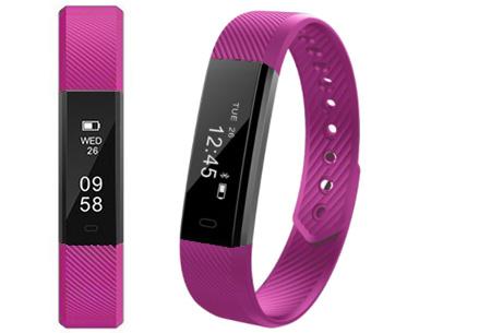 Sporty Activity tracker | Behaal gemakkelijk jouw persoonlijke doelen en ontvang pushberichten   Paars