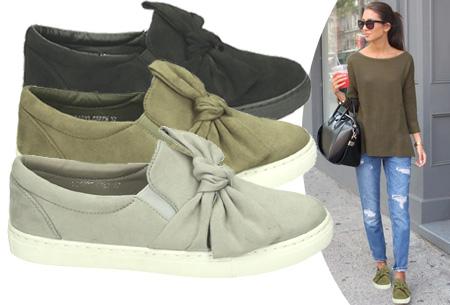 Slip-on bow schoenen
