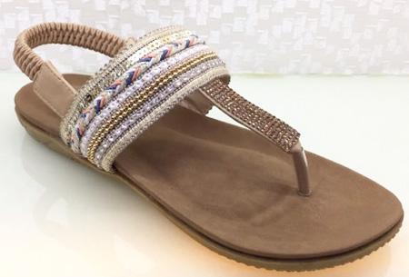 Boho Chic slippers | Trendy slippers voor een echte Ibiza look #1 Beige