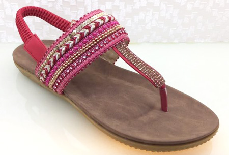 Boho Chic slippers | Trendy slippers voor een echte Ibiza look #1 Rood