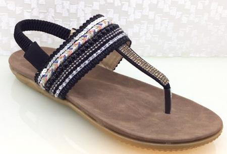 Boho Chic slippers | Trendy slippers voor een echte Ibiza look #1 Zwart