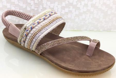 Boho Chic slippers | Trendy slippers voor een echte Ibiza look #2 Beige