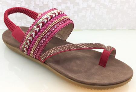 Boho Chic slippers | Trendy slippers voor een echte Ibiza look #2 Rood