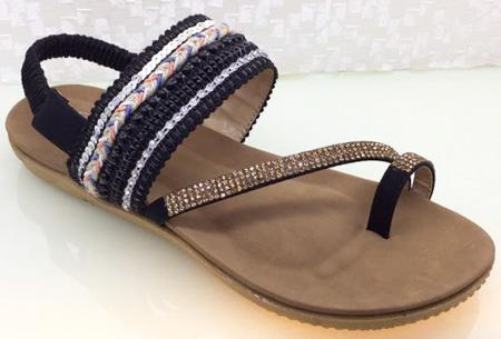 Boho Chic slippers | Trendy slippers voor een echte Ibiza look #2 Zwart