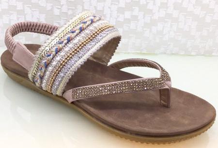 Boho Chic slippers | Trendy slippers voor een echte Ibiza look #3 Beige