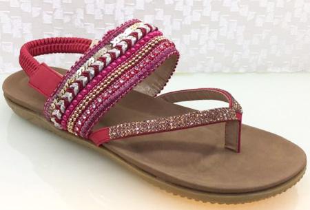 Boho Chic slippers | Trendy slippers voor een echte Ibiza look #3 Rood