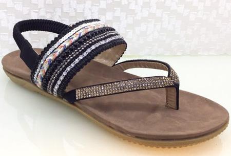 Boho Chic slippers | Trendy slippers voor een echte Ibiza look #3 Zwart