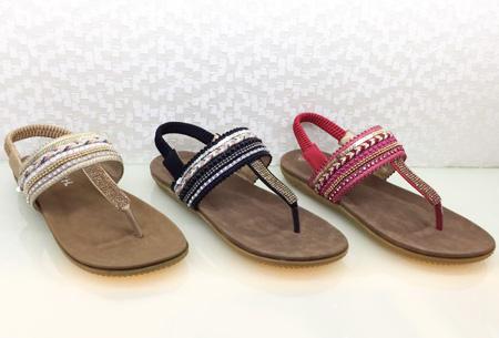 Boho Chic slippers | Trendy slippers voor een echte Ibiza look Model #1
