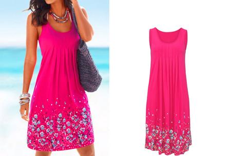 Floral zomerjurk | Vrouwelijk & comfortabel jurkje voor een stijlvolle zomerlook! Roze